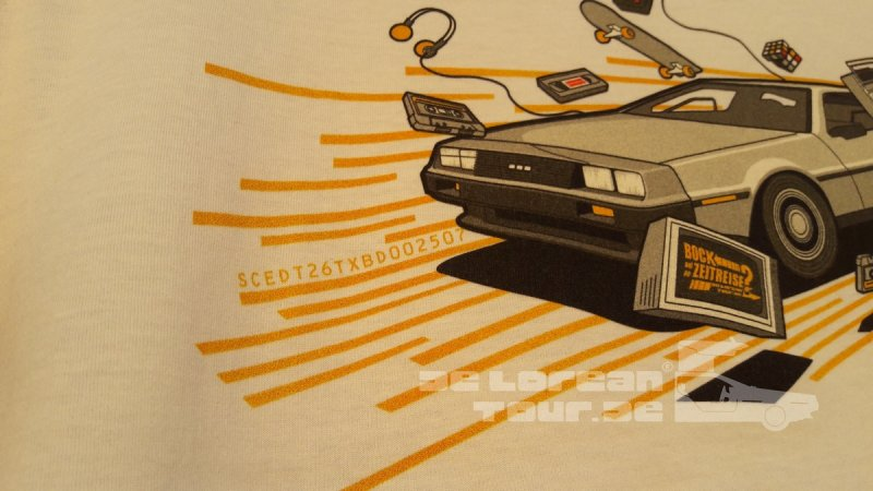 Delorean VIN Shirt white
