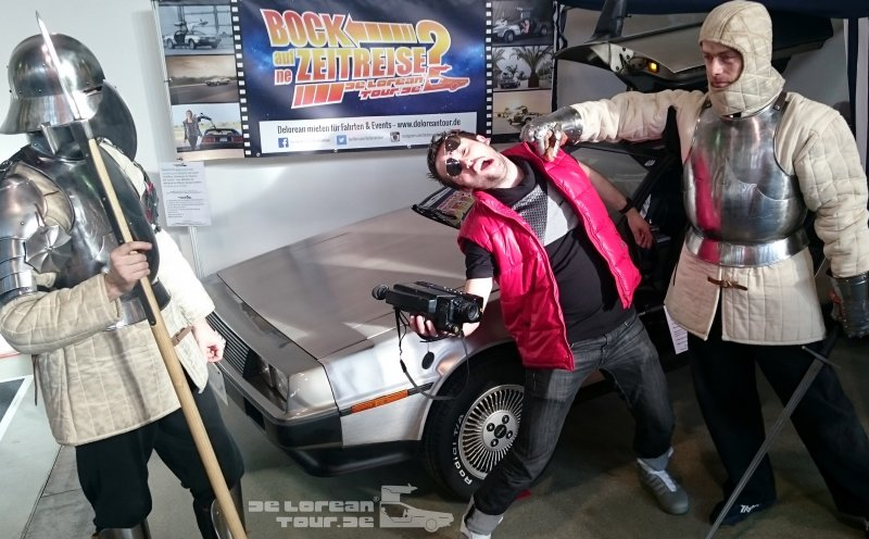 Back to the Future Show with Marty and Delorean