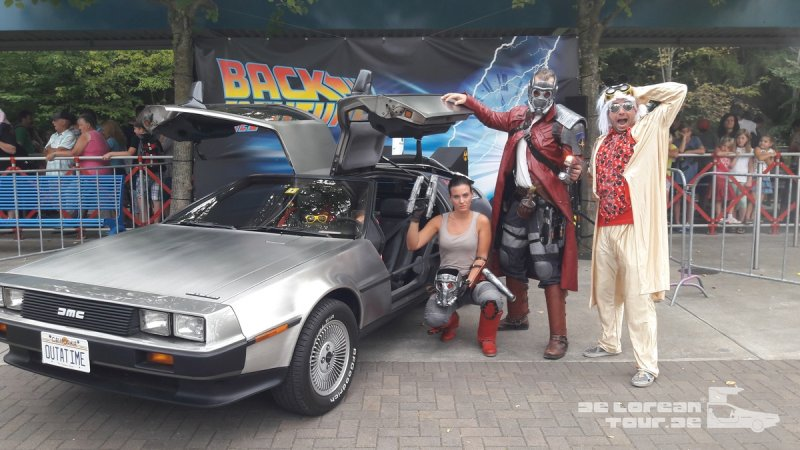 Guardians of the galaxy am zeitreise delorean von docbrown