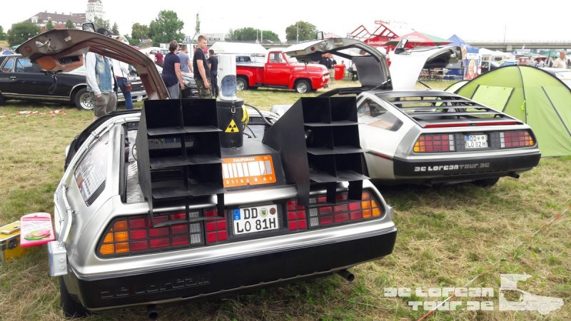 Delorean Zeitmaschine Heck
